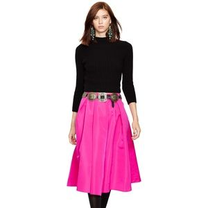 Polo RL pleated A-line skirt